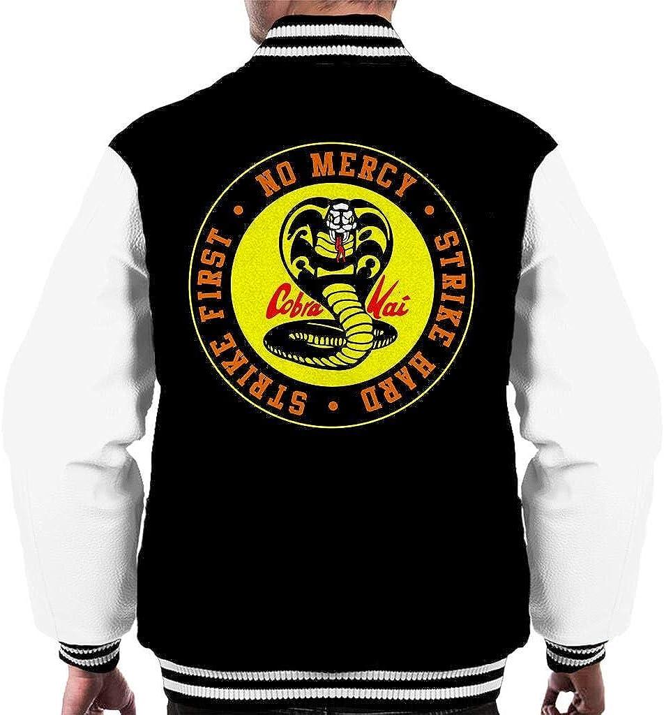 Cobra Kai Snake Logo No Mercy Men's Varsity Jacket at  Men's Clothing store