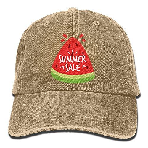 Taijian Summer Sale Adult Denim Dad Solid Baseball Cap Hat Natural