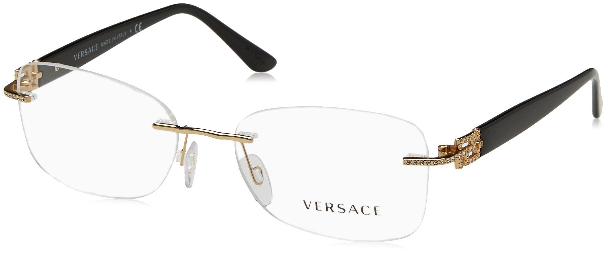 New Versace Eyeglasses Women VE 1225B Gold 1002 VE1225B 53mm