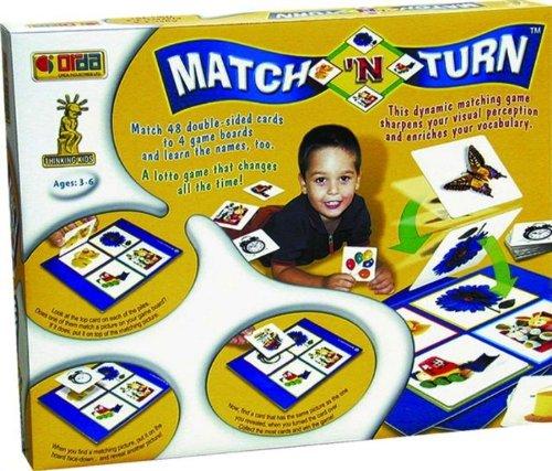 Orda Denken kids 2042Match und Drehen Brettspiel