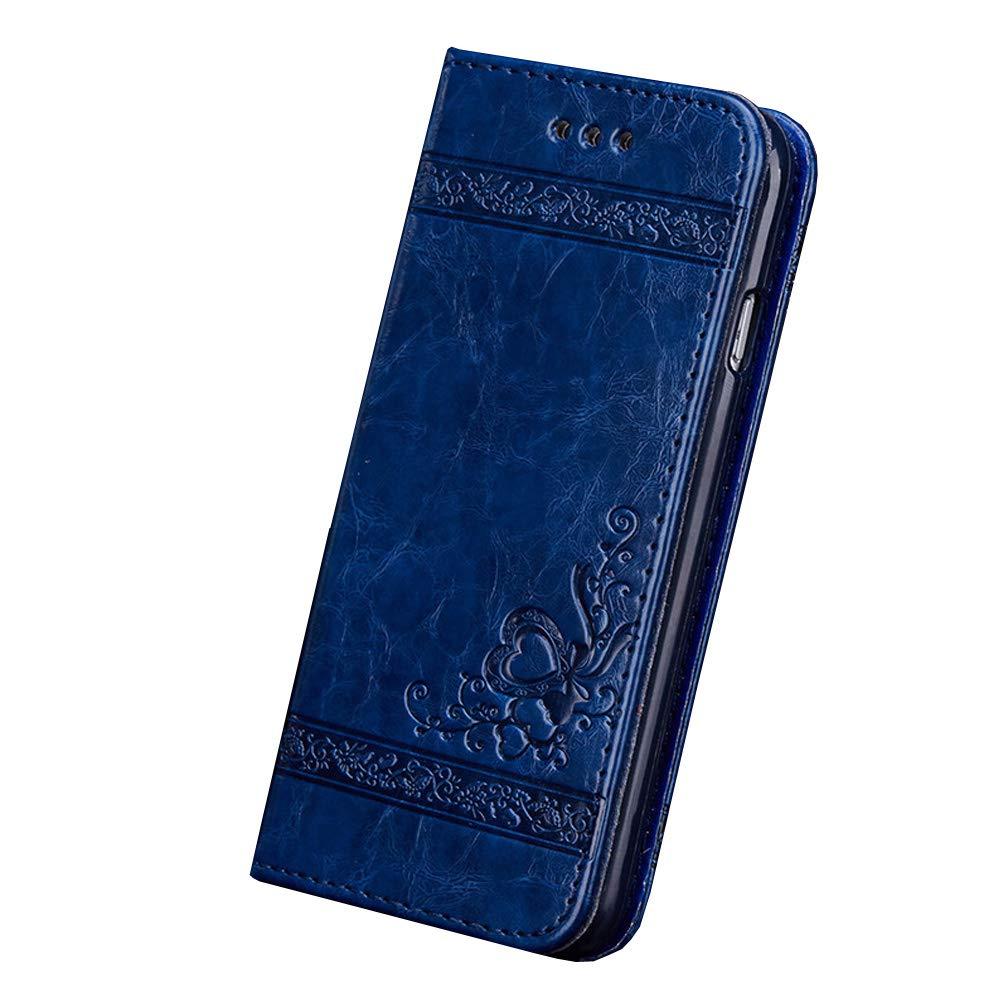 Karomenic PU Leder H/ülle kompatibel mit Samsung Galaxy S4 Pr/ägung Blume Muster Handyh/ülle Brieftasche Silikon Schutzh/ülle Klapph/ülle Magnet Kartenf/ächer Ledertasche Wallet Flip Case Etui,Rot