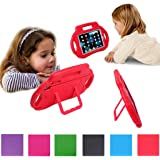 iPad Mini Case, iPad Mini 2 Case, EUHubb [Kids Case] Multi Function Kids Childproof Shockproof Cover Case with Stand [Carrying Handle] for Apple iPad Mini 1/2/3, iPad Mini Retina Red