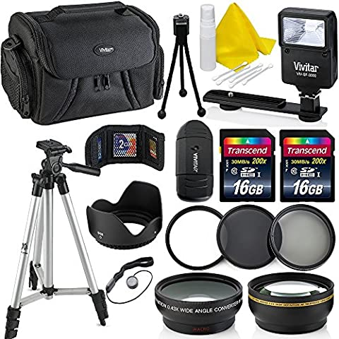 Professional 58MM Accessory Bundle Kit For Canon Rebel T6i T6 T6S T5 T5i T7 T7i T4i T3 T3i T2i T1i & DSLR Cameras , 15 Accessories for (Camera T5i Bundle)
