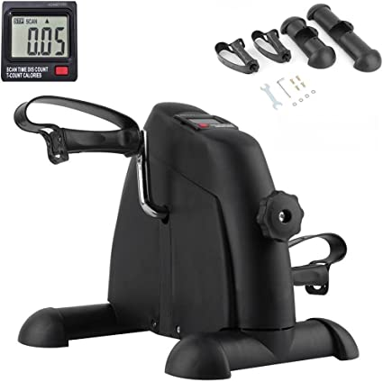 Fitness Cycling Mini Pedal Exercise Bike Indoor LCD Display Cardio Equipment New