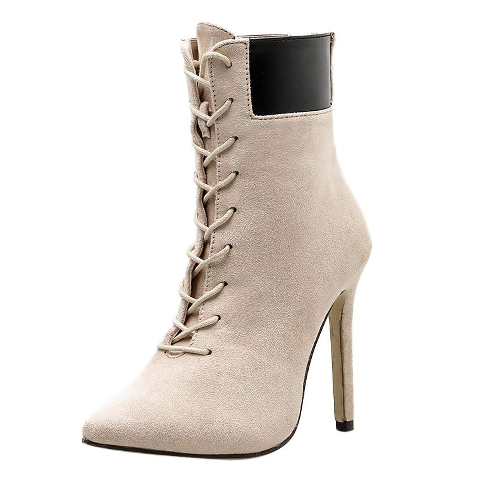 Femme Chaussures Mode Casual Orteil Pointu à Talons Hauts en Automne Hiver Bottines ZippéEs VonVonCo2018080004