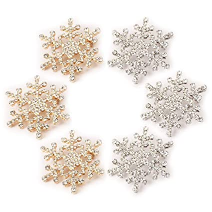 d18346a099feb Amazon.com : Coolcycling Christmas Snowflake Brooches Pin Jewelry ...