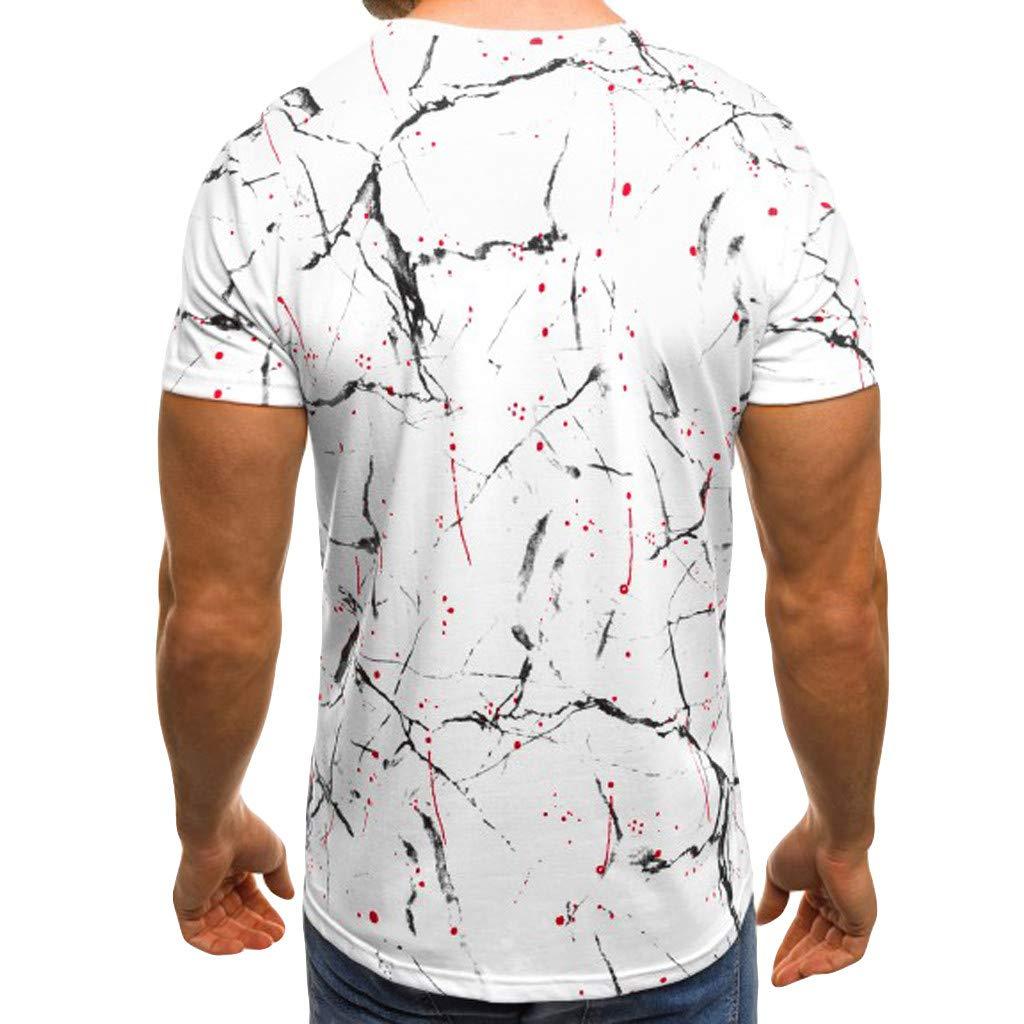 TIMEMEAN Sale Fashion 80s Mens Summer Casual Linen Cotton Slim Fit Round Neck Short Sleeve Print Sport Fitness Jumper T Shirt Top Blouse