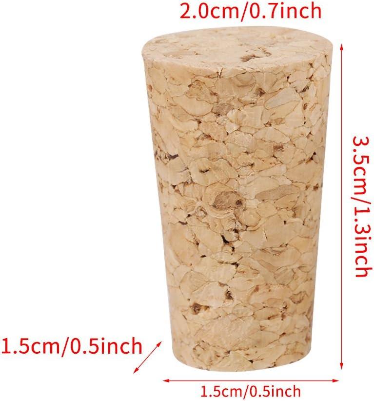 #1 2 tipos 10PCS Corcho natural Tapones c/ónicos Tap/ón de botella de vino//cerveza de madera Corchos naturales