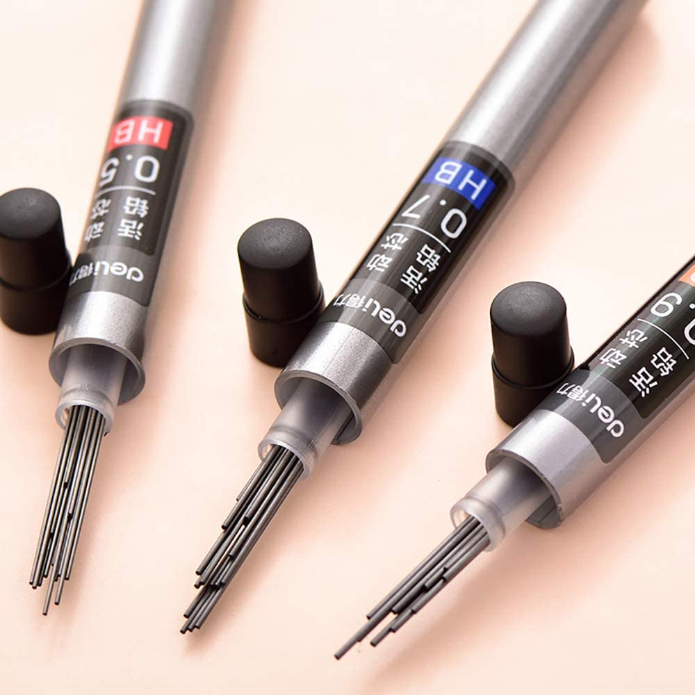 200 Pieces- Manufacture Of Micron-Sized Ultra-Fine Clay Graphite And Glue 10 Boxes 0.5 Mechanical pencil Lead Refills Super Hi-Polymer Lead Refills HB
