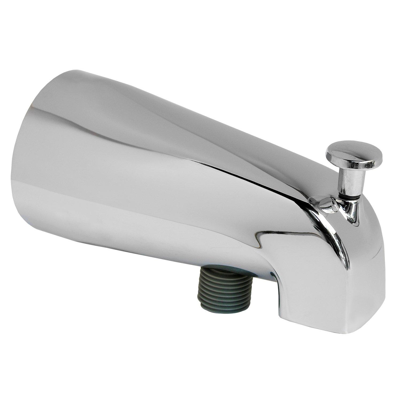 LASCO 08-5721 Slip-Fit Diverter Tub Spout with Personal Shower Hose Connection, Chrome