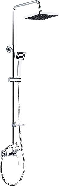 DP Grifería - Set de ducha extensible con grifo monomando incluido, color plateado, modelo Azabache: Amazon.es: Bricolaje y herramientas