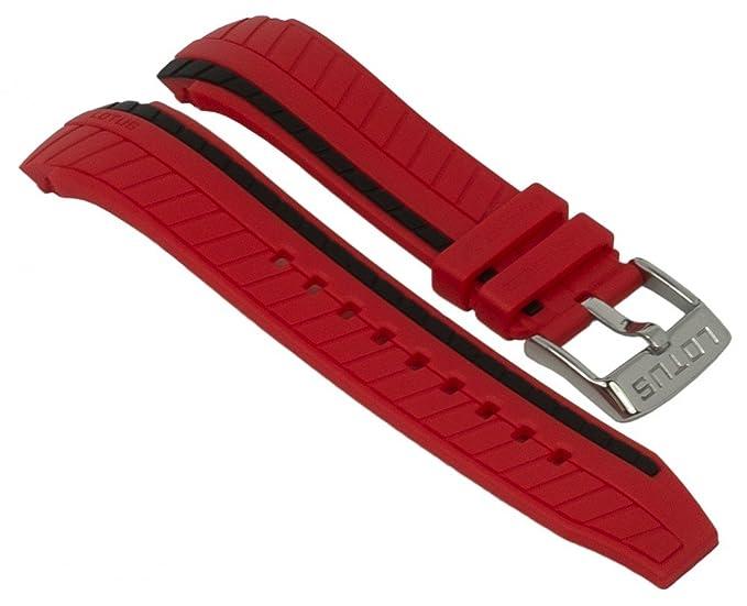 Lotus Ersatzband aus der Serie Marc Marquez Chrono - Ersatzband aus Kunststoff für L18103, Farbe:rot: Amazon.es: Relojes