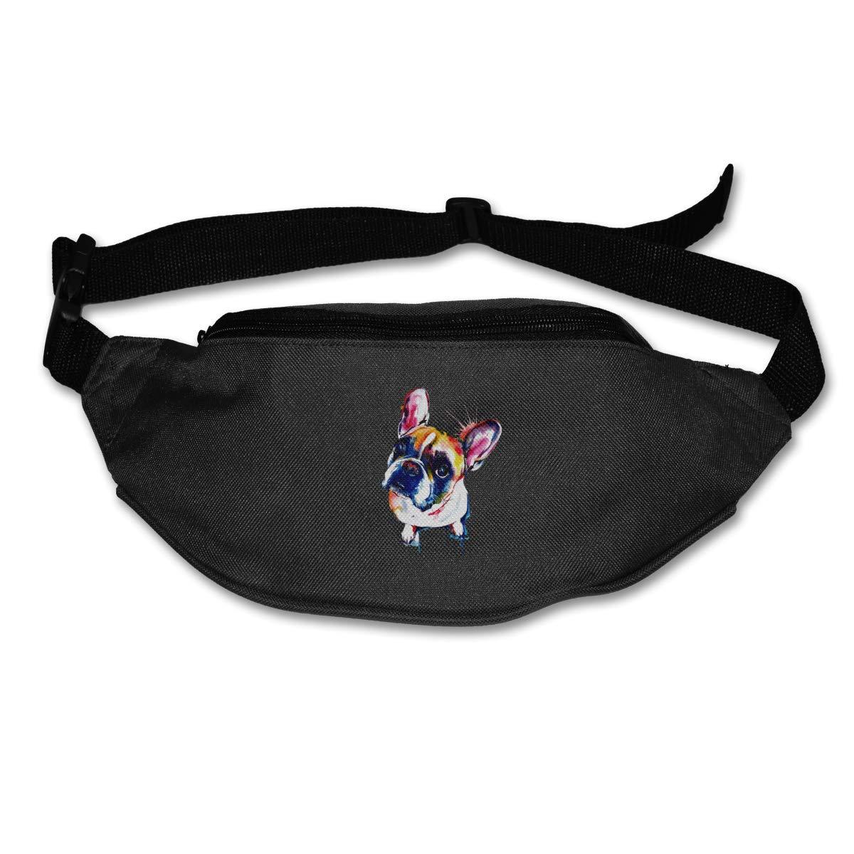Coloreful French Bulldog Sport Waist Packs Fanny Pack Adjustable For Run