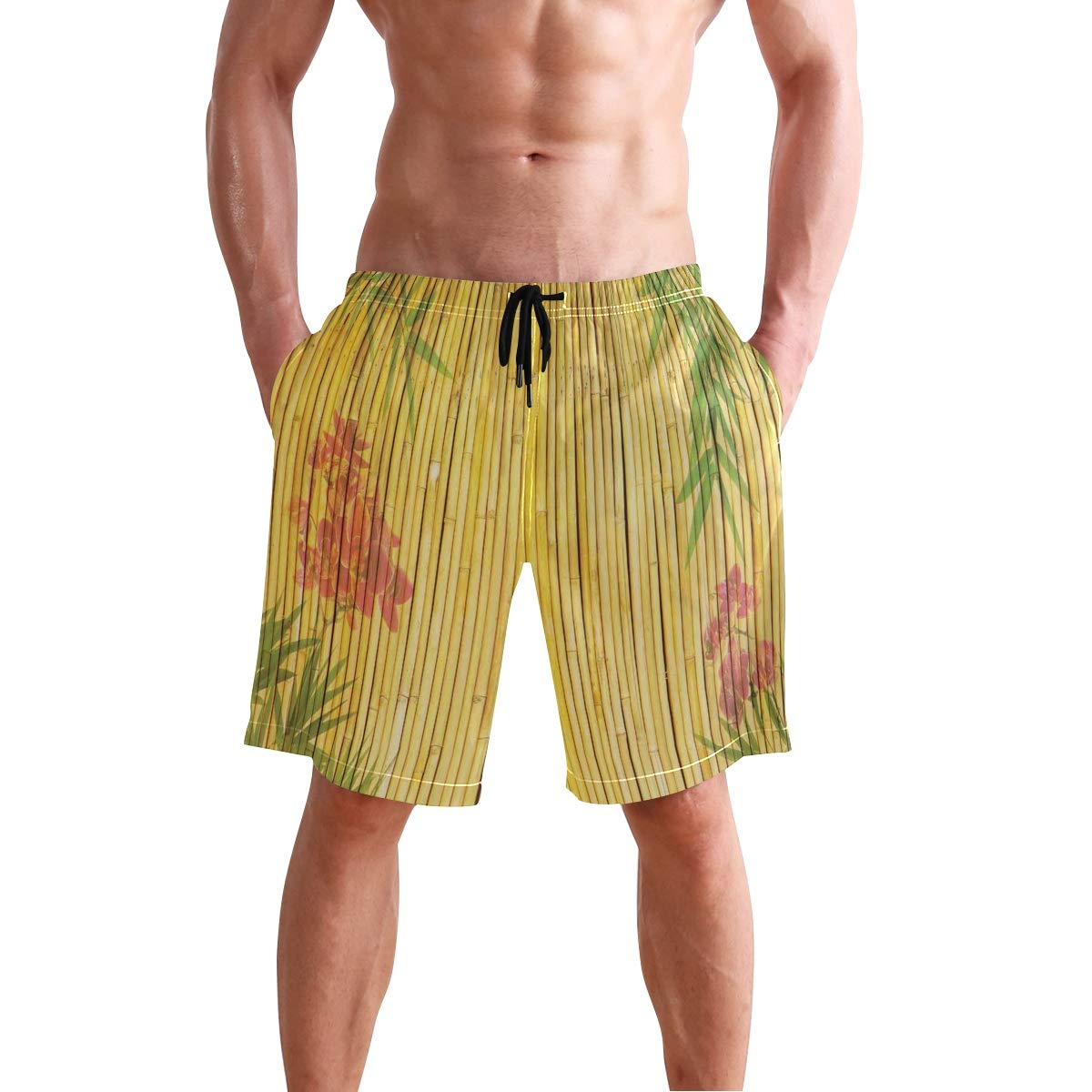 Los Angles Downtown Park View Tropical Nature California American Landmark Casual Swim Trunks All