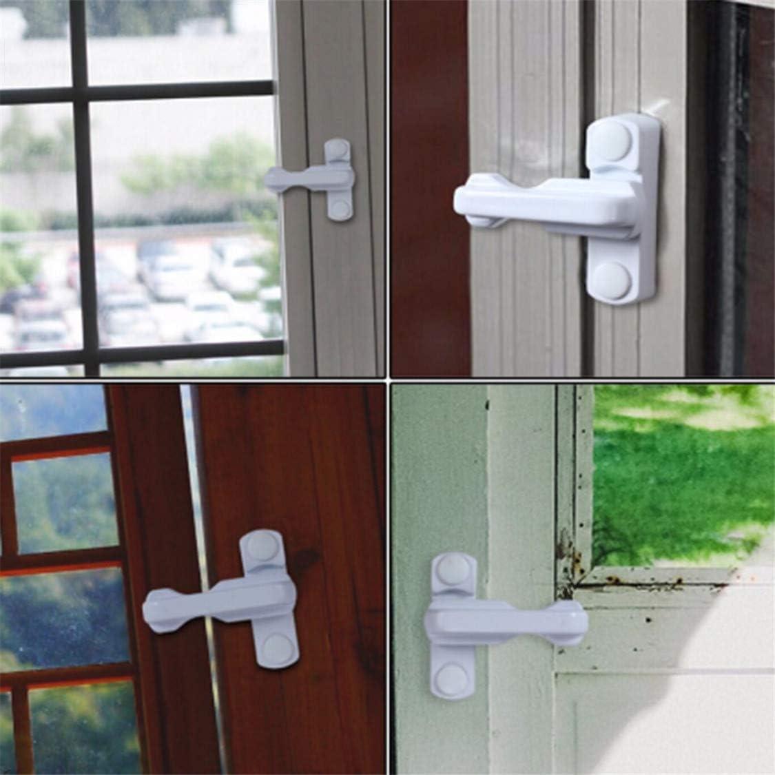 Idiytip Handed White Double Glazed Window Handles Security Child Baby Safety Proof Door Window Locks Restrictor Catch