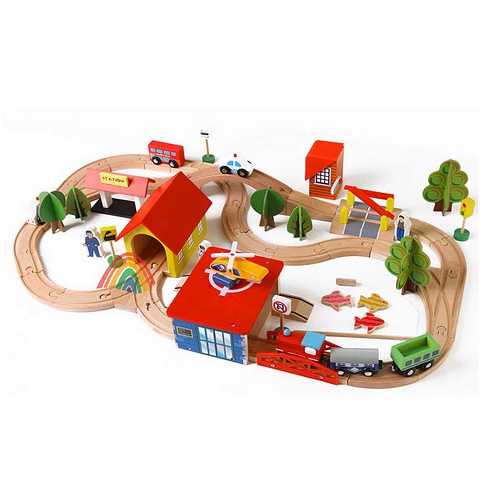 Cvbndfe Stanza dei corredi della casa delle Bambole in min Car Racing Car Track Giocattolo per Bambini Gioco per Bambini Ragazzi Regalo di Natale Rail Building Block Toy Squisito