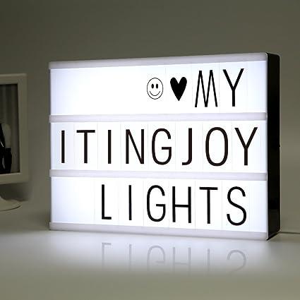 Cinemática Luz Caja con cartas y luz LED A4 tamaño DIY alfabeto jigsaw puzzle juguetes educativos