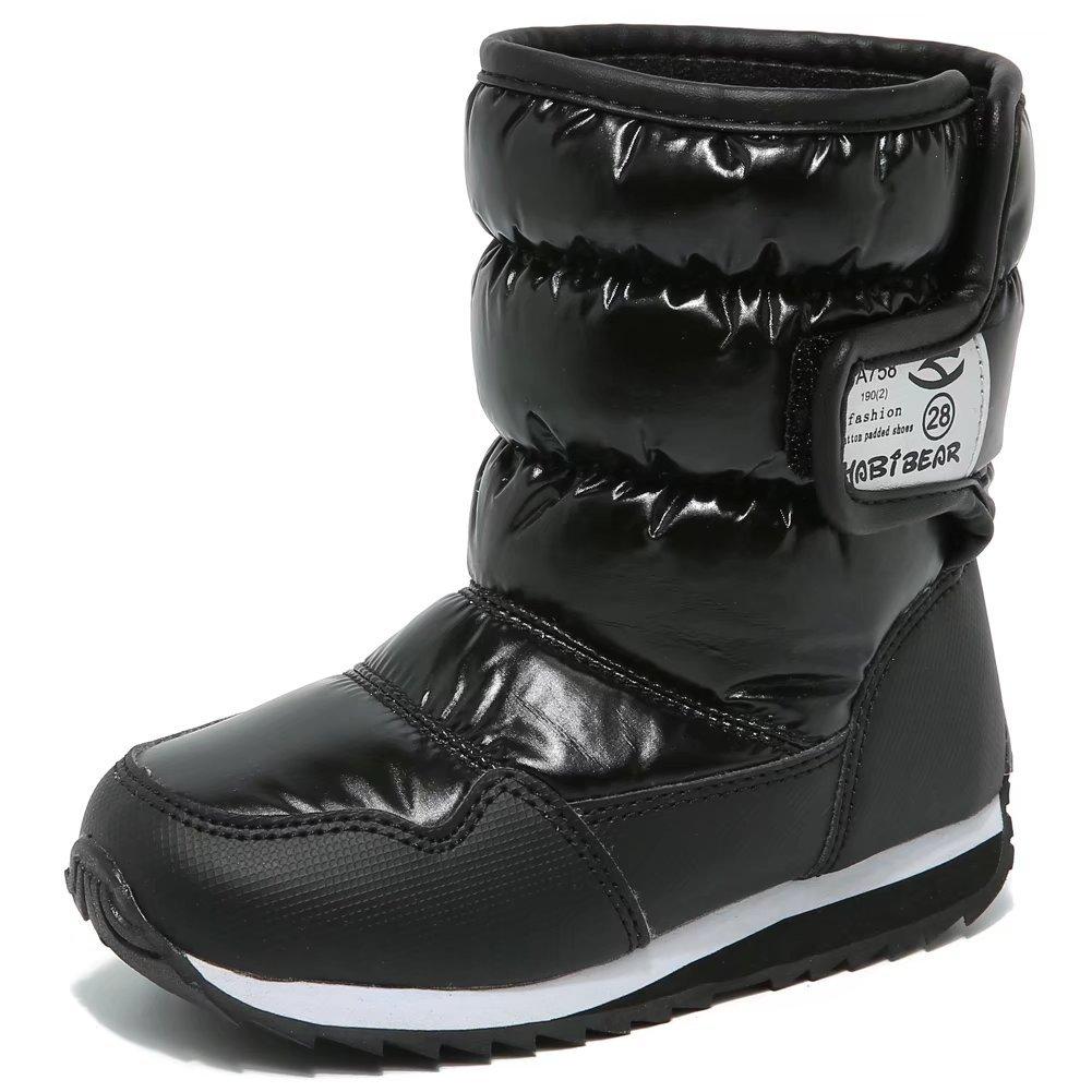HOBIBEAR スノーブーツ キッズブーツ 子供靴 シューズ ウインターブーツ 防寒 雪靴 スキー 防水 男の子 女の子