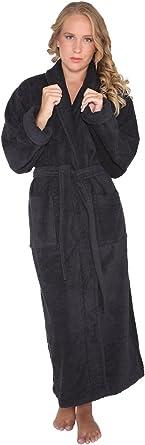 Arus Womens Long Style Full Length Thick Shawl Collar Turkish Bathrobe