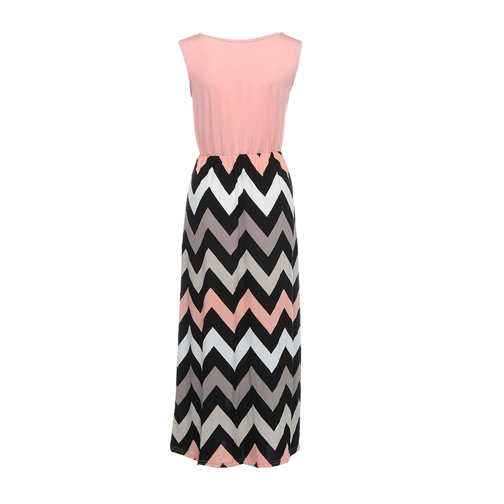 Maternity Dress for Womens Striped Long Boho Dress Lady Beach Summer Sundrss Maxi Dress Plus Size