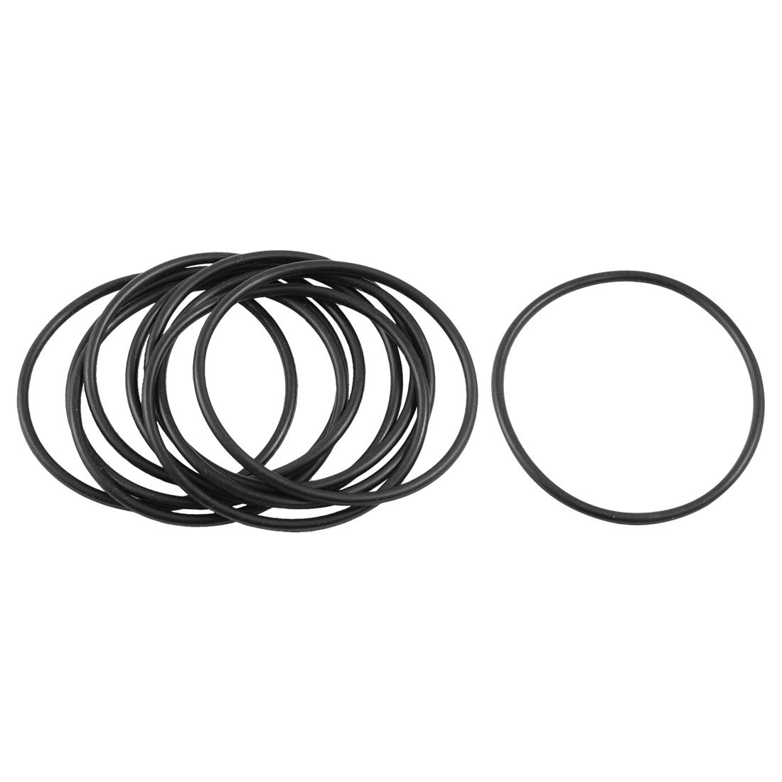10 Pcs 40mm x 44mm x 2mm Nitrile Rubber Sealing O Ring Gasket Washer by sourcing map (Image #1)