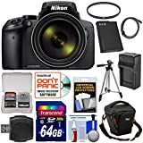 Nikon Coolpix P900 Wi-Fi 83x Zoom Digital Camera 64GB Card + Battery + Charger + Case + Tripod + Filter + Kit