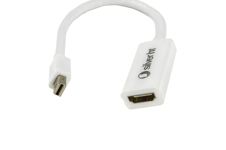SilverHT - Adaptador MiniDisplay Port 1.2a a HDMI para Apple, Color Blanco