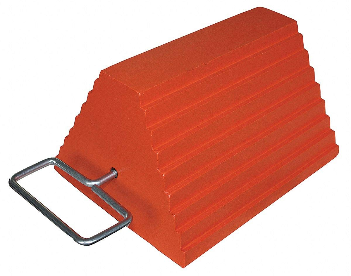 Wheel Chock, General Purpose, Style: Single, Rubber by GRAINGER APPROVED (Image #1)