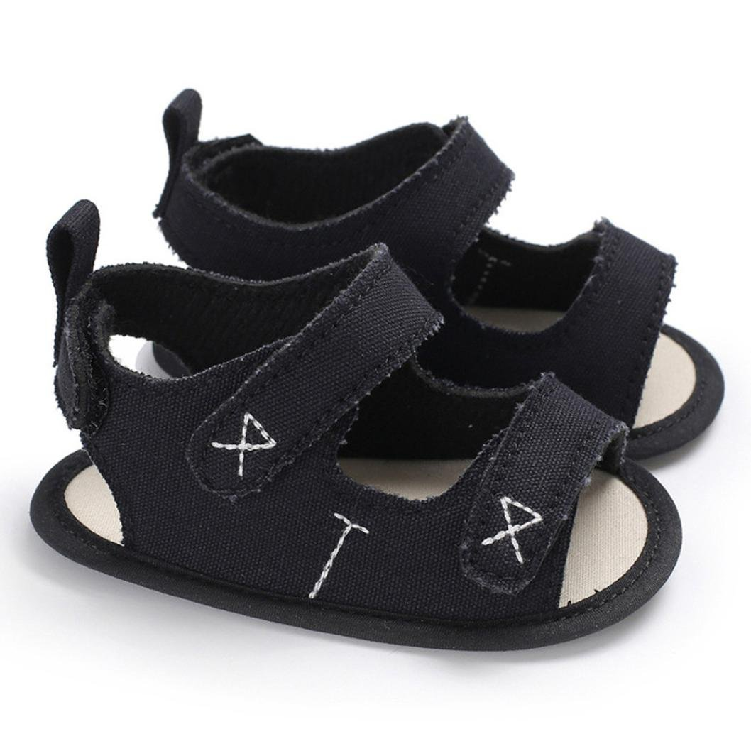 Lanhui Infant Kids Embroidery Sandals Slipper Boys Sneakers Canvas Beach Shoes