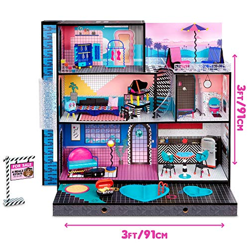 LOL Surprise OMG House – New Real Wood Doll House with 85+ Surprises   3 Stories, 6 Rooms including Elevator, Tub, Pool…