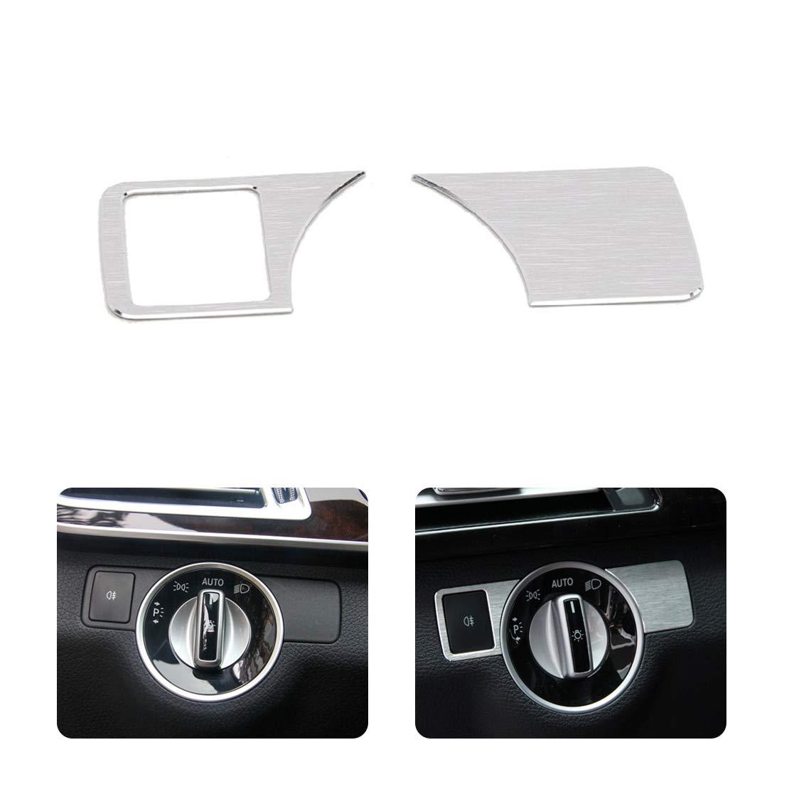 Brushed Aluminium Headlight Switch Frame Trim for BENZ W212 W218 W166 2012-2015