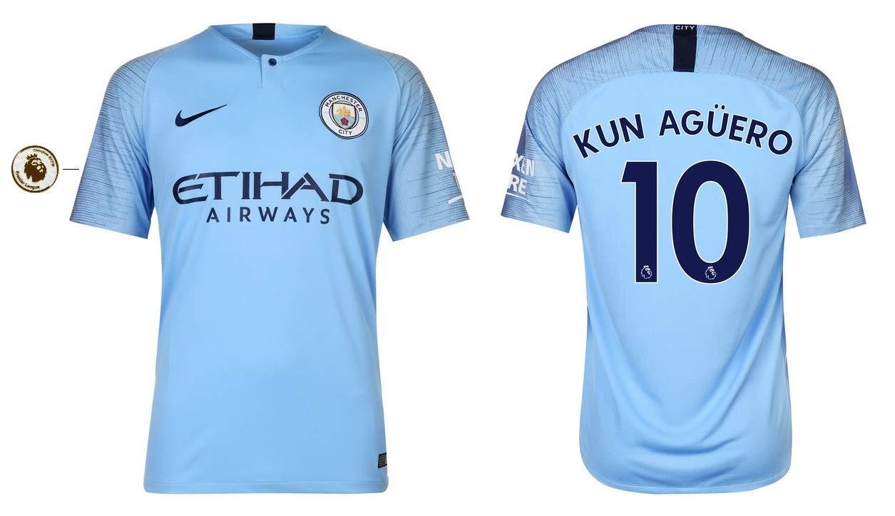 Manchester City F.C. Trikot Kinder 2018-2019 Home PL - Kun Aguero 10