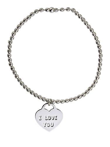 AKA Schmuck - Stretch-Armband Damen 925 Sterling Silber 2.5mm Perlen mit  Gravur quot  fdf4650149