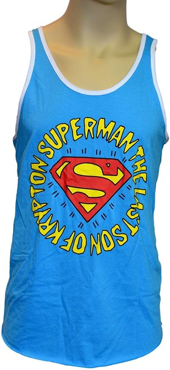 Superman NEON SUPERMAN Licensed Adult Tank Top All Sizes