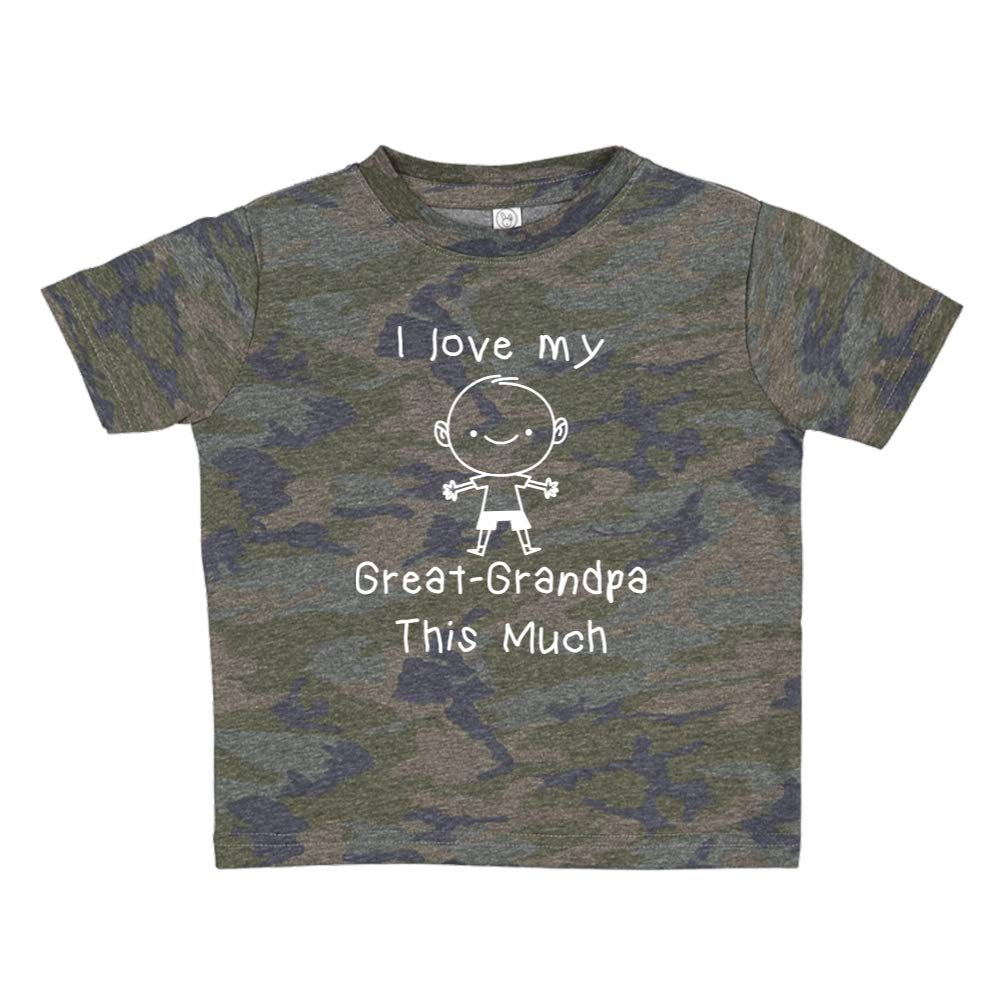I Love My Great-Grandpa This Much Personalized Name Toddler//Kids Short Sleeve T-Shirt Little Boy