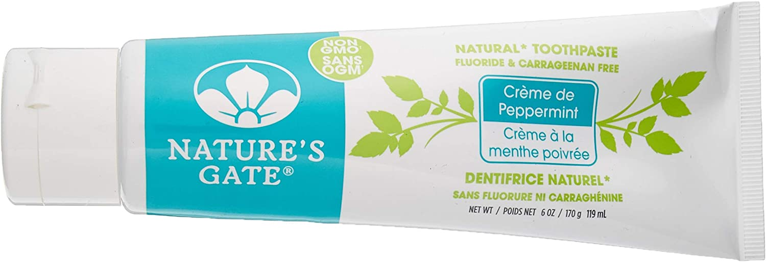 Natures Gate Toothpaste Creme, 6 Ounce - De Peppermint