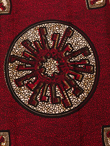 Amazon Com Stretch African Fabric Real Wax Red White Orange Key