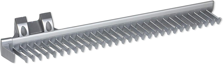 EMUCA - Corbatero Lateral Extraible para Armario, Aluminio y plástico, Anodizado Mate