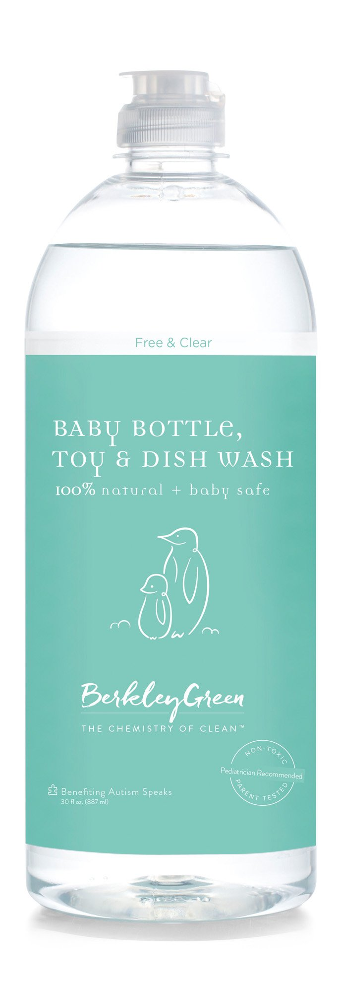 Berkley Green Baby Natural Non -Toxic Dish & Bottle Soap (liquid) Free & Clear - 3 pack