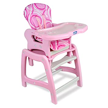 Amazon.com : Envee Baby High Chair with Toddler Playtable and Conversion Childrens Highchairs