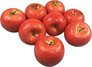 COTOSEY 12pcs Fake Fruit House Kitchen Party Decoration Video Props Artificial Lifelike Simulation Red Apples (12pcs Red Apples)
