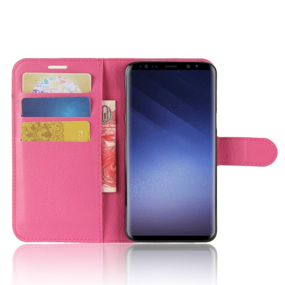 Chiusura Magnetica Per Samsung Galaxy S9,Nero Portafoglio Cover con Porta Carte Custodia per Samsung Galaxy S9 Funzione Stand 95street Custodia Portafoglio in pu Pelle