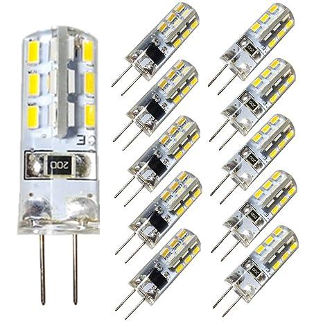 Paquete de 10 - Bombillas LED DC 12V G4 1,5W 24 x 3014 SMD