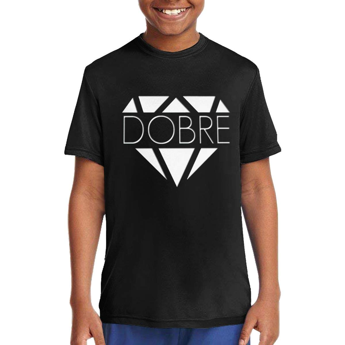 Dobre Brothers Logo Music//Rock//Singer Cotton Shirt Round Neck Short Sleeve T-Shirt for Teen Boys and Girls Classic Fit Black