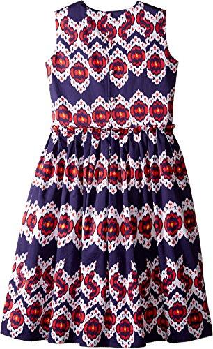 Oscar de la Renta Childrenswear Baby Girl's Ikat Cotton Gathered Skirt Party Dress (Toddler/Little Kids/Big Kids) Navy/Cherry Dress by Oscar de la Renta (Image #1)