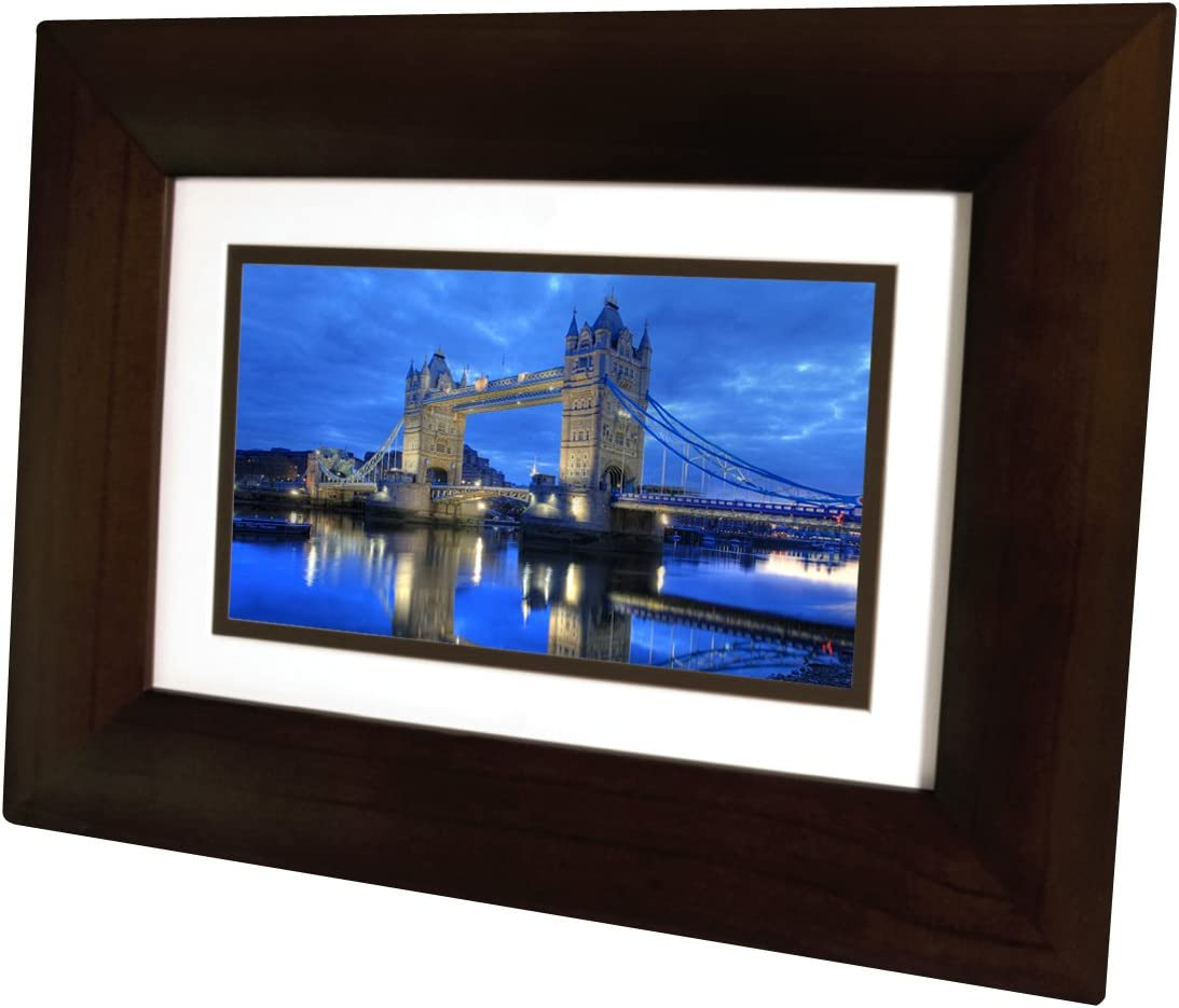 Aluratek 8 Inch LCD Digital Photo Frame with Auto Slideshow Using USB SD SDHC ADPF08SF – Black