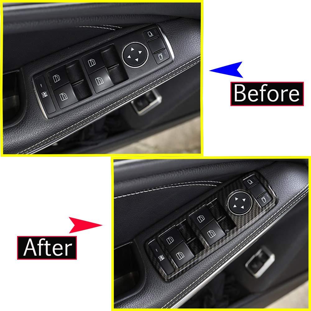 5 x Marco de fibra de carbono ABS para ventana de coche para Benz Clase C W204 10-14 Clase B 12-15 A Clase 13-14
