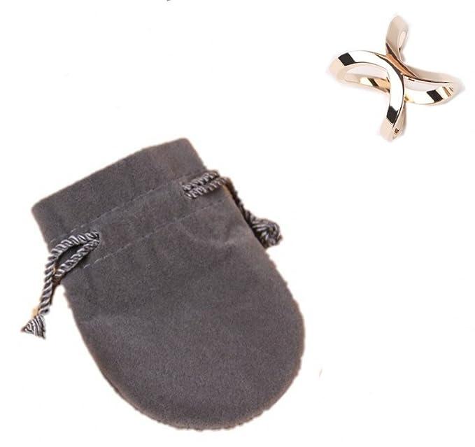 Prettystern - brillante anillo de toalla anillo bufanda con forma de mariposa galvanizado con bolsa de terciopelo: Amazon.es: Ropa y accesorios