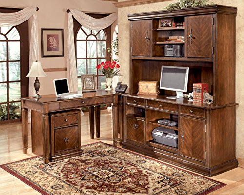 Ashley Furniture Signature Design - Hamlyn File Cabinet - 1 Drawer/1 File Drawer - Traditional - Medium Brown Finish