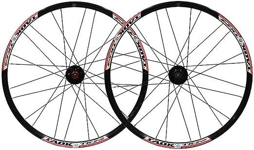 LIMQ Juego De Llantas De Bicicleta Ruedas MTB De 24